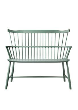FDB Møbler / Furniture - Bench - J52D by Børge Mogensen - Dusty Green