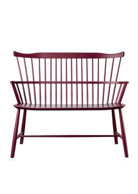 FDB Møbler / Furniture - Bench - J52D by Børge Mogensen - Bordeaux