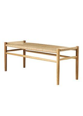 FDB Møbler / Furniture - Bench - J83B by Jørgen Bækmark - Nature Oak/Nature Wicker