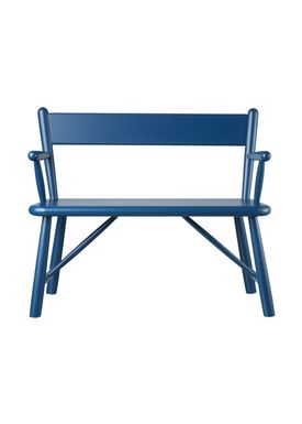 FDB Møbler / Furniture - Barnstol - P11 by Børge Mogensen - Birch / Blue
