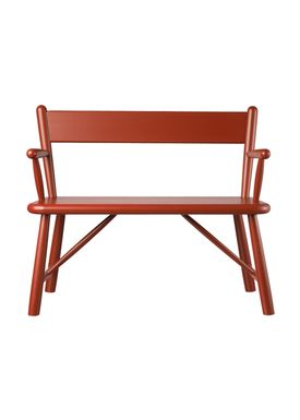 FDB Møbler / Furniture - Barnstol - P11 by Børge Mogensen - Birch / Red
