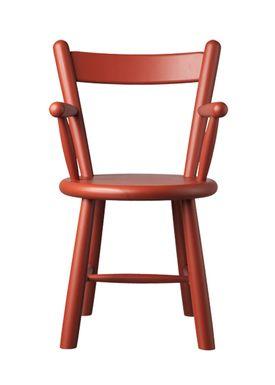 FDB Møbler / Furniture - Barnstol - P9 by Børge Mogensen - Birch / Red