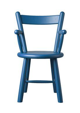 FDB Møbler / Furniture - Barnstol - P9 by Børge Mogensen - Birch / Blue
