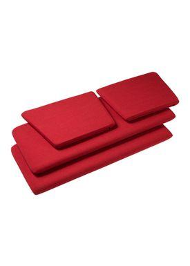 FDB Møbler / Furniture - Cushions - J148 2 pers Cushions by Erik Ole Jørgensen - Red