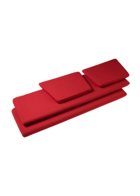 FDB Møbler / Furniture - Cushion - J149 3 pers Cushions by Erik Ole Jørgensen - Red