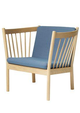 FDB Møbler / Furniture - Lounge Chair - J146 by Erik Ole Jørgensen - Oak/Dusty Blue