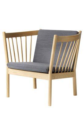 FDB Møbler / Furniture - Lounge Chair - J146 by Erik Ole Jørgensen - Oak/Antracit Grey
