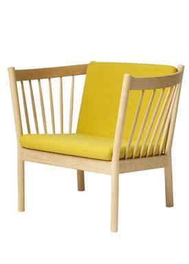 FDB Møbler / Furniture - Lounge Chair - J146 by Erik Ole Jørgensen - Oak/Ocher Yellow