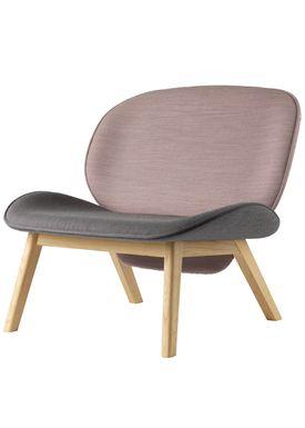 FDB Møbler / Furniture - Lounge Chair - L32 Suru by Carina Maria - Grey/Pink