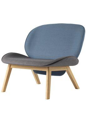 FDB Møbler / Furniture - Lounge Chair - L32 Suru by Carina Maria - Grey/Blue