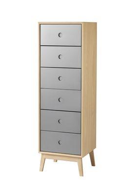 FDB Møbler / Furniture - Display - F23 by Foersom & Hiort-Lorenzen - Nature/Grey