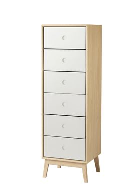 FDB Møbler / Furniture - Display - F23 by Foersom & Hiort-Lorenzen - Nature/White