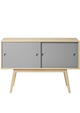 FDB Møbler / Furniture - Sideboard - A83 by Foersom & Hiort-Lorenzen - Nature/Grey