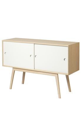 FDB Møbler / Furniture - Sideboard - A83 by Foersom & Hiort-Lorenzen - Nature/White