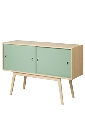 FDB Møbler / Furniture - Sideboard - A83 by Foersom & Hiort-Lorenzen - Nature/Green