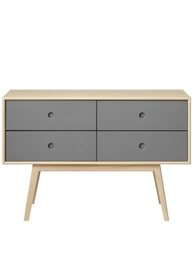 FDB Møbler / Furniture - Sideboard - F22 by Foersom & Hiort-Lorenzen - Nature/Grey
