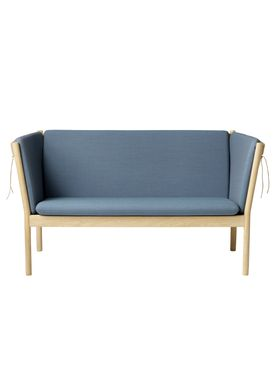 FDB Møbler / Furniture - Couch - J148 2 pers by Erik Ole Jørgensen - Oak/Dusty Blue