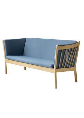FDB Møbler / Furniture - Couch - J149 3 pers by Erik Ole Jørgensen - Oak/Dusty Blue