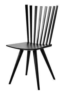 FDB Møbler / Furniture - Stol - J152 Mikado stol af Foersom & Hiort-Lorenzen - Bøg / Sort