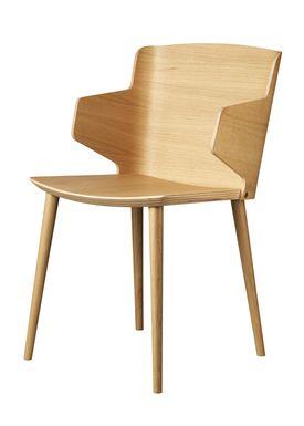 FDB Møbler / Furniture - Stol - J155 Yak af Tom Stepp - Bøg / Natur / Med armlæn
