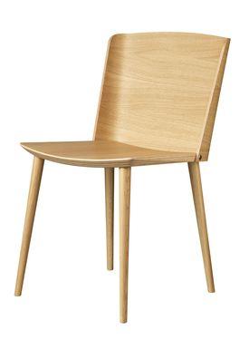 FDB Møbler / Furniture - Stol - J155 Yak af Tom Stepp - Eg / Natur / Uden armlæn