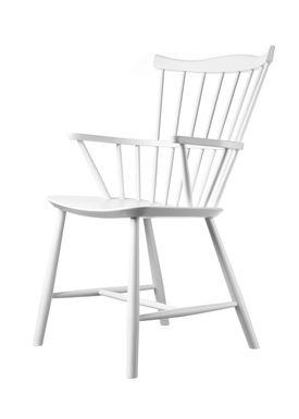 FDB Møbler / Furniture - Stol - J52B af Børge Mogensen - Bøg / Hvid / Lakeret