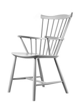 FDB Møbler / Furniture - Stol - J52B af Børge Mogensen - Bøg / Grå / Lakeret