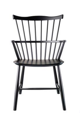FDB Møbler / Furniture - Stol - J52B af Børge Mogensen - Bøg / Sort / Lakeret