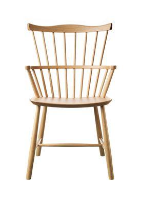 FDB Møbler / Furniture - Stol - J52B af Børge Mogensen - Bøg / Lakeret / Hvidpigmenteret