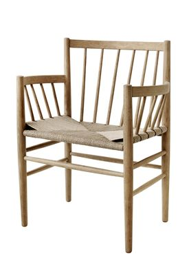 FDB Møbler / Furniture - Chair - J81 by Jørgen Bækmark - Nature Oak/Nature Wicker