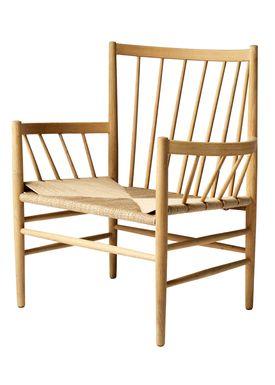 FDB Møbler / Furniture - Chair - J82 by Jørgen Bækmark - Nature Oak/Nature Wicker