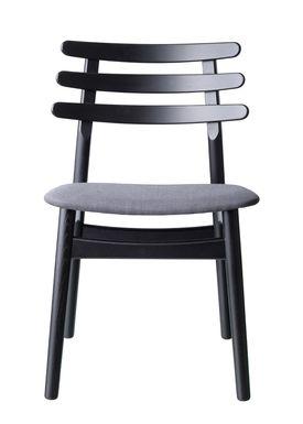 FDB Møbler / Furniture - Stol - J48 af Poul M. Volther - Eg / Sortlakeret / Antracit