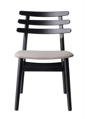 FDB Møbler / Furniture - Stol - J48 af Poul M. Volther - Eg / Sortlakeret / Beige melange