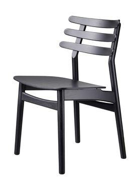 FDB Møbler / Furniture - Stol - J48 af Poul M. Volther - Eg / Sortlakeret / Sort egefiner