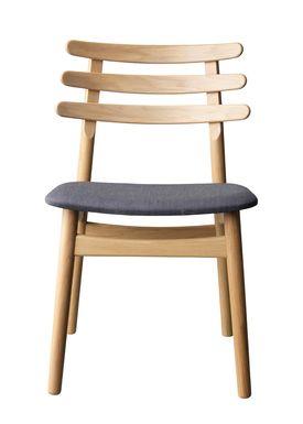FDB Møbler / Furniture - Stol - J48 af Poul M. Volther - Eg / Antracit