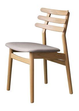 FDB Møbler / Furniture - Stol - J48 af Poul M. Volther - Eg / Beige melange