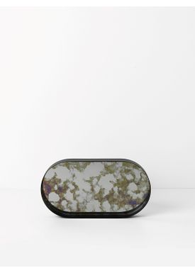 Ferm Living - Bakke - Coupled Tray - Oval Small - Grøn