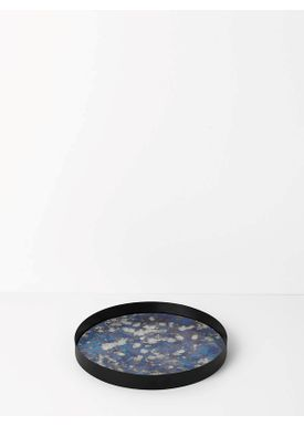 Ferm Living - Tray - Coupled Tray - Round Large - Blue