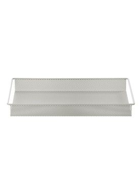 Ferm Living - Bakke - Metal Tray - Grå