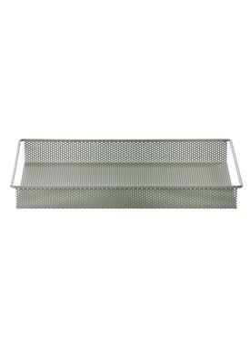 Ferm Living - Bakke - Metal Tray - Støvet Grøn