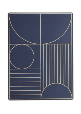 Ferm Living - Dinner Mat - Outline Dinner Mat - Dark Blue