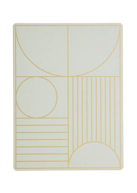 Ferm Living - Dinner Mat - Outline Dinner Mat - Mint