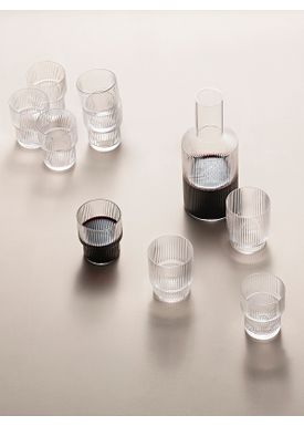 Ferm Living - Glas - Ripple Glass (Set of 4) - Glas (Set of 4)