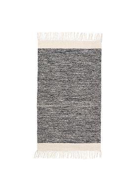 Ferm Living - Gulvtæppe - Melange Rug - Black Melange