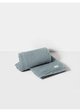 Ferm Living - Towel - Organic Bath Towel - Dusty Blue
