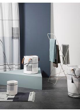 Ferm Living - Håndklæde - Organic Hand Towel - Støvet blå