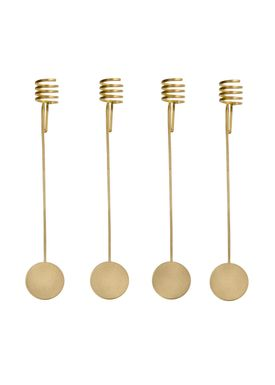 Ferm Living - Keyring - Christmas Tree Candle Holders (set of 4) - Brass