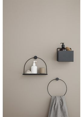 Ferm Living - Shelf - Bathroom Shelf - Black
