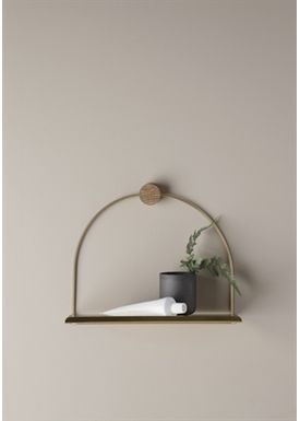 Ferm Living - Shelf - Bathroom Shelf - Brass