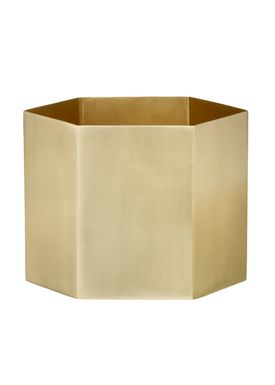 Ferm Living - Krukke - Hexagon Pot - XLarge - Messing